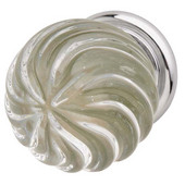 Astral Collection Crystal Knob in Polished Chrome, 30mm Diameter x 41mm D x 25mm Base Diameter