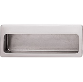 Cornerstone Series Inset Pulls Collection (4'' W) Mortise Recessed Cabinet Handle in Polished Nickel, 100mm W x 11mm D x 39mm H, Center to Center: 96mm  (3-3/4'')