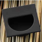 (1-7/8'' W) Mortise Recessed Square Handle in Matt Black, 47mm W x 11mm D x 47mm H
