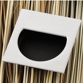 (2-1/4'' W) Mortise Recessed Square Handle in Matt Nickel/Black, 57mm W x 11mm D x 57mm H