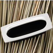 (3-2/5'' W) Mortise Recessed Handle in Matt Nickel/Black, 85mm W x 11mm D x 37mm H