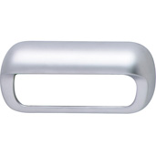 (4-2/5'' W) Handle in Matt Chrome, 111mm W x 18mm D x 52mm H