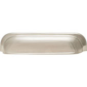 Mulberry Collection 8''W Cup Handle in Brushed Nickel, 204mm W x 25mm D x 42mm H (Appliance Pull)