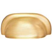 Mulberry Collection 3''W Cup Handle in Brushed Brass, 77mm W x 20mm D x 34mm H