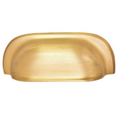 Mulberry Collection 4-1/2''W Cup Handle in Brushed Brass, 115mm W x 23mm D x 41mm H