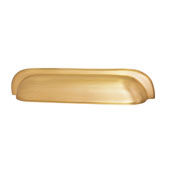 Mulberry Collection 8''W Cup Handle in Brushed Brass, 204mm W x 25mm D x 42mm H ( Appliance Pull)