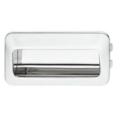 (4-2/5'' W) Mortise Recessed Handle in Polished Chrome, 110mm W x 13mm D x 56mm H