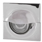 Lago di Como Collection Inset Pull in Polished Chrome, 55mm W x 12mm D x 55mm H