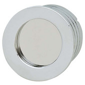 Bella Italiana Collection Recessed Mortise Knob in Polished Chrome, 40mm Diameter x 12mm D x 35mm Base Diameter