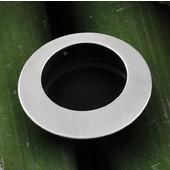 (1-7/8'') Diameter Mortise Recessed Round Handle in Brushed Nickel with Black Inside, 45mm Diameter x 35mm D x 35mm Base Diameter