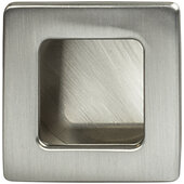 Design Deco Series Architectural Collection Zinc Inset Handle in Satin/Brushed Nickel, 39mm W x 13mm D x 39mm H (1-9/16'' W x 1/2'' D x 1-9/16'' H)