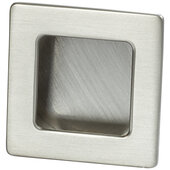 Design Deco Series Architectural Collection Zinc Inset Handle in Satin/Brushed Nickel, 50mm W x 13mm D x 50mm H (1-15/16'' W x 1/2'' D x 1-15/16'' H)