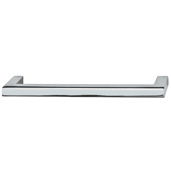 Cornerstone Series Vogue Collection (5-3/8'' W) Handle in Polished Chrome, 137mm W x 28mm D x 9mm H , Center to Center: 128mm  (5-3/64'')