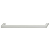 Cornerstone Series Vogue Collection (9-3/16'' W) Handle in Brushed Nickel, 233mm W x 28mm D x 9mm H, Center to Center: 224mm  (9'')