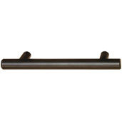 Cornerstone Series Cosmopolitan Collection (5-1/16'' W) Contemporary Bar Pull in Satin Bronzed Copper, 129mm W x 32mm D x 12mm H, Center to Center: 3-1/2''