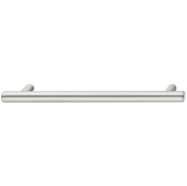Cornerstone Series Elemental Collection (5-3/8'' W) Bar Cabinet Handle in Stainless Steel, 136mm W x 35mm D x 12mm H, Center to Center: 96mm  (3-3/4'')