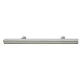 Cornerstone Series Elemental Collection (6-5/8'' W) Bar Cabinet Handle in Stainless Steel, 168mm W x 35mm D x 12mm H, Center to Center: 128mm  (5-3/64'')