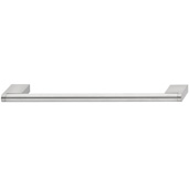 Cornerstone Series Architectural Collection (8-2/5'' W) Matt Stainless Steel Center Cabinet Handle with Stainless Steel Look Ends, 212mm W x 38mm D x 10mm H, Center to Center: 192mm  (7-9/16'')