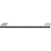 Cornerstone Series Architectural Collection (9-1/2'' W) Matt Stainless Steel Center Cabinet Handle with Stainless Steel Look Ends, 242mm W x 38mm D x 10mm H, Center to Center: 224mm  (9'')