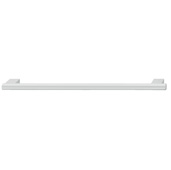 Cornerstone Series Contemporary (5'' W) Aluminum Cabinet Handle in Silver Colored Anodized with 2 Bases, 126mm W x 35mm D x 12mm H, Center to Center: 96mm  (3-3/4'')