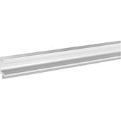 (98-3/7''W) Extruded Continuous Handle, Silver Colored Anodized, 2500mm W x 20.5mm D x 45mm H