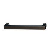 Cornerstone Series Vogue Collection (4-1/8'' W) Handle in Matt Black, 105mm W x 28mm D x 9mm H, Center to Center: 96mm  (3-3/4'')