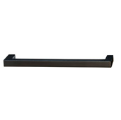 Vogue Collection (5-2/5''W) Handle in Matt Black, 137mm W x 28mm D x 9mm H, 128mm Center to Center