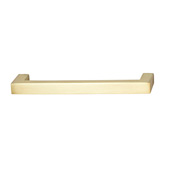 Cornerstone Series Vogue Collection (4-1/8'' W) Handle in Brushed Brass, 105mm W x 28mm D x 9mm H, Center to Center: 96mm  (3-3/4'')