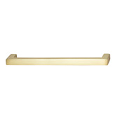 Vogue Collection (5-2/5''W) Handle in Brushed Brass, 137mm W x 28mm D x 9mm H, 128mm Center to Center
