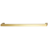 Cornerstone Series Vogue Collection (7-15/16'' W) Handle in Brushed Brass, 201mm W x 28mm D x 9mm H, Center to Center: 192mm  (7-9/16'')