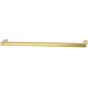 Cornerstone Series Vogue Collection (9-3/16'' W) Handle in Brushed Brass, 233mm W x 28mm D x 9mm H, Center to Center: 224mm  (9'')
