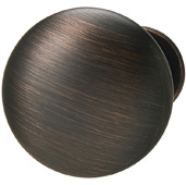 Cornerstone Series Chanterelle Collection (1-1/4'' Diameter), Transitional Mushroom Knob in Satin Bronzed Copper, 30mm Diameter x 28mm D x 17mm Base Diameter