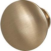 Cornerstone Series Chanterelle Collection (1-1/4'' Diameter), Transitional Mushroom Knob in Matt Gold, 30mm Diameter x 28mm D x 17mm Base Diameter