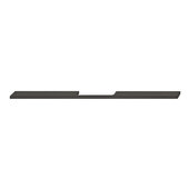 Design Deco Series Neoteric Collection Aluminum Center Pull Handle in Black Ral 9017, 400mm W x 30mm D x 7mm H (15-3/4'' W x 1-3/16'' D x 1/4'' H), Center to Center: 320mm (12-5/8'')