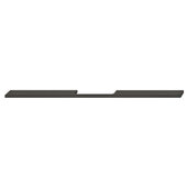 Design Deco Series Neoteric Collection Aluminum Center Pull Handle in Black Ral 9017, 700mm W x 30mm D x 7mm H (27-9/16'' W x 1-3/16'' D x 1/4'' H), Center to Center: 560mm (22-1/16'')