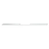Design Deco Series Neoteric Collection Aluminum Center Pull Handle in Polished Chrome, 500mm W x 30mm D x 7mm H (19-11/16'' W x 1-3/16'' D x 1/4'' H), Center to Center: 384mm (15-1/8'')