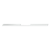 Design Deco Series Neoteric Collection Aluminum Center Pull Handle in Polished Chrome, 700mm W x 30mm D x 7mm H (27-9/16'' W x 1-3/16'' D x 1/4'' H), Center to Center: 560mm (22-1/16'')