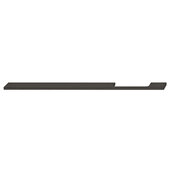 Design Deco Series Neoteric Collection Aluminum Off Center Pull Handle in Black Ral 9017, 300mm W x 30mm D x 7mm H (11-13/16'' W x 1-3/16'' D x 1/4'' H), Center to Center: 256mm (10-1/16'')