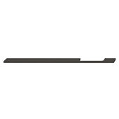 Design Deco Series Neoteric Collection Aluminum Off Center Pull Handle in Black Ral 9017, 350mm W x 30mm D x 7mm H (13-3/4'' W x 1-3/16'' D x 1/4'' H), Center to Center: 288mm (11-5/16'')