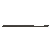 Design Deco Series Neoteric Collection Aluminum Off Center Pull Handle in Black Ral 9017, 400mm W x 30mm D x 7mm H (15-3/4'' W x 1-3/16'' D x 1/4'' H), Center to Center: 352mm (13-7/8'')