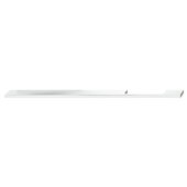 Design Deco Series Neoteric Collection Aluminum Off Center Pull Handle in Polished Chrome, 700mm W x 30mm D x 7mm H (27-9/16'' W x 1-3/16'' D x 1/4'' H), Center to Center: 640mm (25-3/16'')