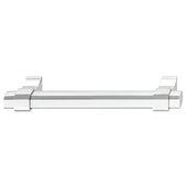 Design Deco Series Urban Collection Aluminum Handle in Polished Chrome, 163mm W x 36mm D x 16.8mm H (6-7/16'' W x 1-7/16'' D x 11/16'' H), Center to Center: 128mm (5-1/16'')