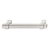 Design Deco Series Urban Collection Aluminum Handle in Satin/Brushed Nickel, 227mm W x 36mm D x 16.8mm H (8-15/16'' W x 1-7/16'' D x 11/16'' H), Center to Center: 192mm (7-9/16'')