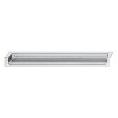 Design Deco Series Minimalist Collection Zinc Edge Handle in Matt Aluminum, 177mm W x 18mm D x 24mm H (6-15/16'' W x 11/16'' D x 15/16'' H), Center to Center: 96mm (3-3/4'')