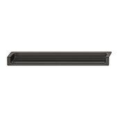 Design Deco Series Minimalist Collection Zinc Edge Handle in Matt Black, 177mm W x 18mm D x 24mm H (6-15/16'' W x 11/16'' D x 15/16'' H), Center to Center: 96mm (3-3/4'')