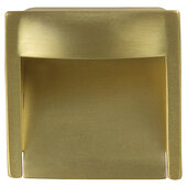Design Deco Series Architectural Collection Zinc Inset Handle in Satin/Brushed Brass, 45mm W x 18mm D x 45mm H (1-3/4'' W x 11/16'' D x 1-3/4'' H), Center to Center: 32mm (1-1/4'')