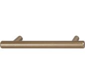 Cornerstone Series Cosmopolitan Collection (5-1/2'' W) Contemporary Bar Handle in Matt Gold, 142mm W, Center to Center: 4''