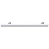 Cornerstone Series Cosmopolitan Collection (5-1/2'' W) Contemporary Bar Pull in Polished Chrome, 142mm W x 32mm D x 12mm H, Center to Center: 4''