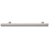 Cornerstone Series Cosmopolitan Collection (5-5/16'' W) Contemporary Bar Pull in Brushed Nickel, 135mm W x 32mm D x 12mm H, Center to Center: 96mm  (3-3/4'')