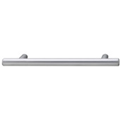 Cornerstone Series Cosmopolitan Collection (5-5/16'' W) Contemporary Bar Pull in Matt Chrome, 135mm W x 32mm D x 12mm H, Center to Center: 96mm  (3-3/4'')